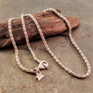 Silpada Sterling Silver Varigated Texture Chain